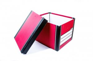 red home office box