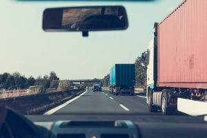 Trucks on the road - movers Converse TX transporting customers' belongings