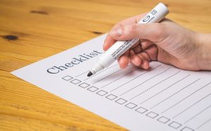Write a checklist before you set up a home photo studio