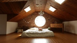 A room in a loft is one of the best ideas for kids room