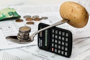 -calculator and money