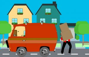 -illustration of the moving process