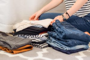 a pile of items of clothing