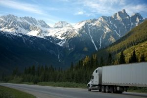-a moving truck on the road