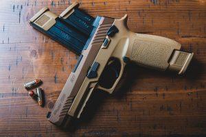 An unloaded pistol