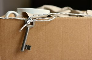 a key on a box