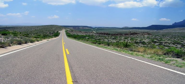 the road in Texas