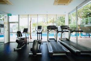 treadmills and bikes