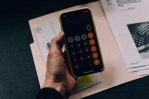 calculator on the phone