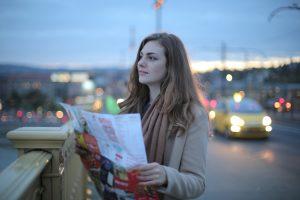a girl on the bridge