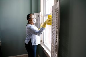 women during cleaning the house