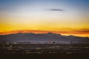 aerial photo of Las Vegas