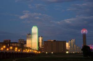 image of Dallas at night
