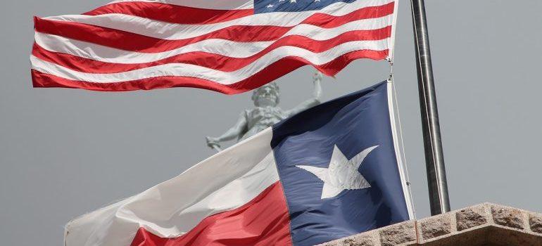 Texas and the USA flag