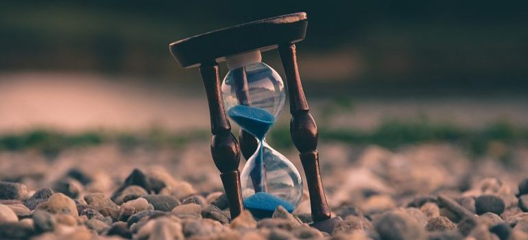 An hourglass to help you decide when is the best time to relocate your business