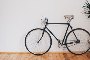 image of a bike as a part of packing bike touring equipment guide
