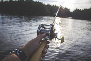 A man fishing