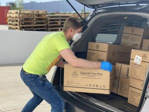 A professional mover working
